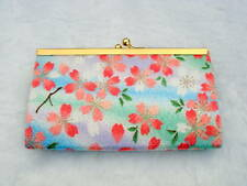 NWT Japanese Silk Crepe Kimono Brocade Chirimen Fabric Coin Purse Geisha Girl