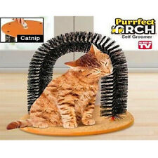 PURRFECT KITTY ARCH CAT MEOW GROOMER SCRATCHER CLEANER BONUS CATNIP INCLUDED
