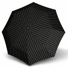 Knirps T.200 Medium Duomatic Regenschirm Gatsby Black Schwarz Weiß Neu