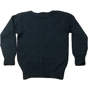VIntage 20's A.G. Spalding & Bros Men's Varsity Football Sweater Black Wool Knit
