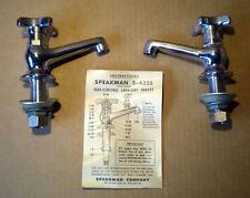 SALE NIB Antique Speakman Co S-4325 Self Closing Lavatory Faucet Set Pat Pend