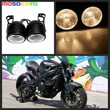 Motor Streetfighter Dual Twin Headlight + Bracket Dominator Tracker Naked Bike