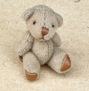 1:12 Scale Soft Cloth Brown Teddy Bear Tumdee Dolls House Miniature Nursery