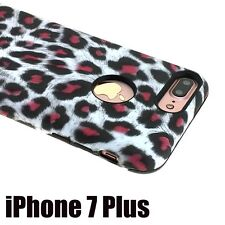 iPhone 7+ / 8+ Plus - HYBRID HARD & SOFT RUBBER ARMOR CASE COVER WHITE LEOPARD