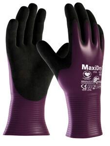 MaxiDry Palm Coated 56-426 Nitrile Foam palm Open Cuff Waterproof Work Gloves
