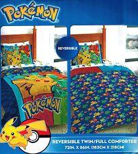 Pokemon Reversible Twin/Full Comforter & Twin 3pc Sheet Set