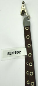 "15"" Dark Brown Studded Leather Lanyard - BLN-802 - Belagio Enterprises"