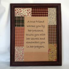A True Friend ... Remembers You In Prayers ~ Pretty Rustic Patchwork Wall Decor