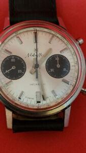 "cronografo swiss made Vintage Nobellux Landeron 248 quadrante ""Panda"""