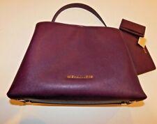 Michael Kors 2PC Handbag Wallet Purple Plum Gold Chain Gently Worn and New