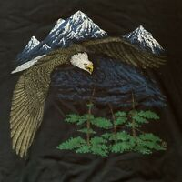 🦅 Vintage Single Stitch T-Shirt Pacific Northwest Mountain Shirt - Made In USA