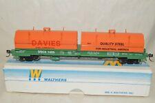 HO scale Walthers custom Davies Steel steel cushion coil flat car train