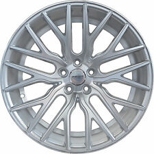 4 GWG Wheels 20 inch STAGGERED Silver FLARE Rims fits FORD MUSTANG 2005 - 2014