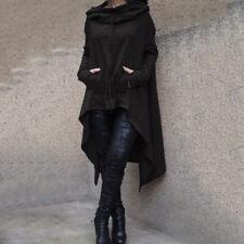 Damen Wintermäntel Capes Mantel Parka Poncho Tops Jacke Kapuzenpullover 36 38 40