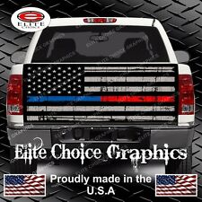 Thin Blue Red Line Truck Tailgate Wrap Vinyl Graphic Decal Sticker