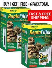 Tetra Fauna Repto Filter Medium 6 Pk  Easy To Replace Fully Assembled Cartridges