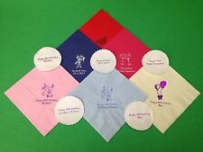 100 X PERSONALISED NAPKINS & COASTERS. WEDDING, ANNIVERSARY, PARTY