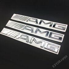 3x MERCEDES AMG HECK Emblem Logo Aufkleber B E C SL CLS S CL A SLK ML CLA GL GLA