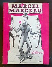 """MARCEL MARCEAU """"NEW PANTOMIMES�� vintage 1957 THEATRE PROGRAM BOOK"""