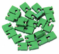 25x 2.54mm Micro Jumper Green Shorting Link Shunt With Open Test Point