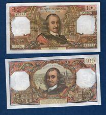 100 Francs Corneille  4/2/1971 SPL Frais Craquant Type 1964 Cote 65 euro