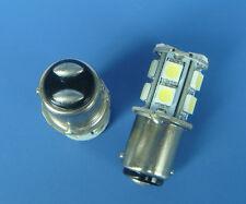 10x BA15D 1142 SMD Car Boat bulb light 13-5050 SMD LED,DC 12V, White,#13CZW