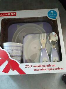 SKIP*HOP ZOO OWL Mealtime 5 Piece Gift Set- unopened box