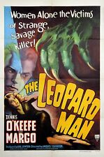 """LEOPARD MAN, THE (1943) Style """"A"""" one sheet poster ATMOSPHERIC design & graphics"""