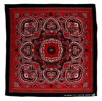 k074 Paisley Muster Schwarz Rot Weiß Kopftuch Bandana Halstuch Tuch Nicki Sport