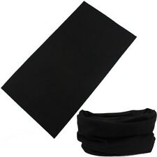 Colors Solid Tube Scarf Bandana Head Face Mask Neck GAITER Snood Headwear Beanie Black