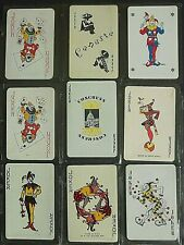 9 Vintage Swap Playing Card JOKERS-Moon Sits-On Throne-Winking Card in Sleeve