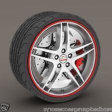 "RED Alloy Wheel Protector Rim Trim Strips 13"" to 22"" RIMBLADES CITROEN"