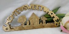 Vintage Brass Key Holder Wall Mount Home-Sweet-Home Plaque made in India