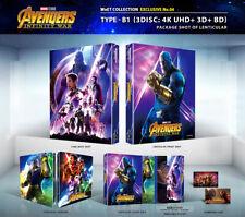(Preorder) AVENGERS: INFINITY WAR [Blu-ray] 4K+3D+2D (STEELBOOK), Lenticular-B1