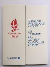 Souvenir philatélique Albertville 92 FDC bloc 13 + 2633 + 2732. Timbres neufs**