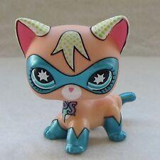 Littlest Pet Shop Animal LPS Toy Short Hair Cat Comic Con Masked Super Hero