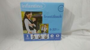 Infantino Flip Front2Back Baby Carrier 3 Carrying Positions Black 8-32 lbs