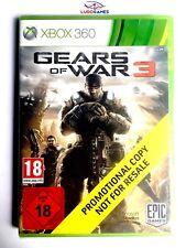 Gears of War 3 Xbox 360 Videojuego Nuevo Precintado Promo Sealed Brand New EUR