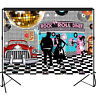 50s Rock N Roll Diner Backdrop Party Decoration Photography Background 7x5 feet