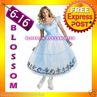 F49 Alice in Wonderland Ladies Disney Fancy Dress Party Halloween Costume Outfit