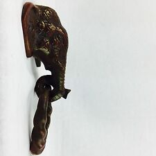 Brass Door Knocker Vintage look Brass Elephant Head Door Knocker