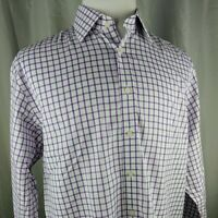 Charles Tyrwhitt Mens Non Iron Classic Fit 16-1/2 34 in Dress Shirt Purple Check