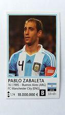 PABLO ZABALETA MANCHESTER CITY 2014 WORLD CUP RAFO STICKER