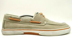 Sperry Top Sider Brown Canvas Casual Deck Boat Driving Loafers Shoes Men's 12 M