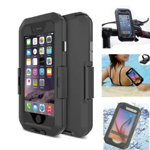 IPX8 Waterproof Bike Motorcycle Handlebar Mount Bag Case Holder for iPhone 6S 6