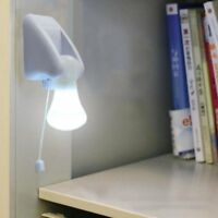 LED Bulb Cabinet Closet Lamp Pull Cord Night Lights Battery Powered Light New