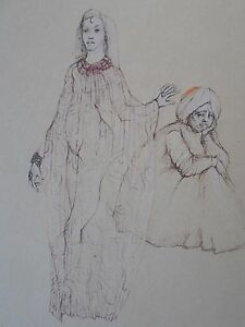 Léonor FINI (1907-1996) Femmes -Gravure-HANDSIGNED Etching