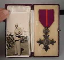 Military MBE Order of the British Empire Sterling Medal -Calcutta
