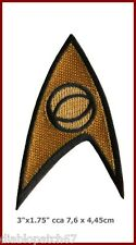 Star Trek TOS 1st and 2nd Season Starfleet Science Insignia Patch Iron sew on