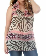 Chiffon Animal Print Tunic Tops & Blouses for Women